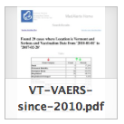 VAERS- VT since 2010